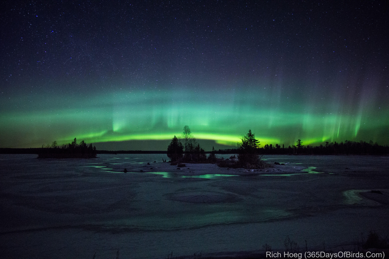 Awesome January: Northern Lights Over Boulder Lake